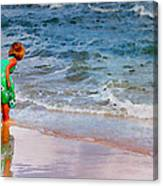 Girl With Pail Canvas Print