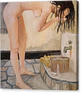 Girl With The Golden Towel Canvas Print