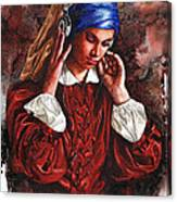 Girl With The Poor Hearing Canvas Print