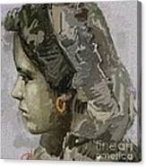 Girl With Yellow Earring Gwye1 Canvas Print