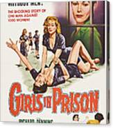Girls In Prison, Us Poster, Joan Canvas Print