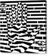 Give Me Five Maze  Canvas Print