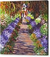 Giverny Gardens Pathway After Monet  Canvas Print