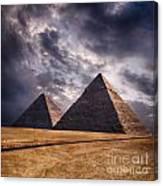 Giza Pyramids In Cairo Egypt Canvas Print
