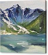 Glacial Lake Canvas Print