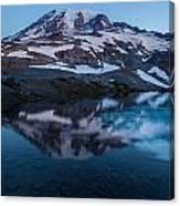 Glacial Rainier Morning Reflection Canvas Print