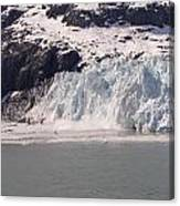 Glacier Falling Into Bay Canvas Print