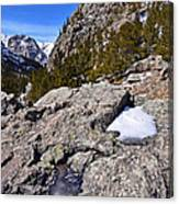 Glacier Gorge Ahead Canvas Print
