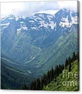 Glacier Mountain Canvas Print