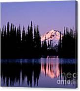 Glacier Peak Sunrise On Image Lake Canvas Print