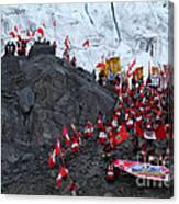 Glacier Pilgrimage Quyllur Riti Festival Canvas Print