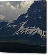 Glacier Storm Brewing Canvas Print