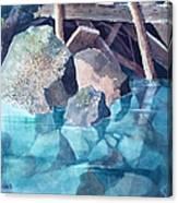 Glacier Stream Rocks Canvas Print