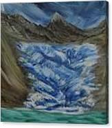 Glacier To Ocean Canvas Print
