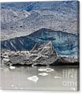 Glacier Tongue Calfing Icebergs Into Glacial Lake Canvas Print