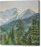 Glacier Valley Morning Sky Canvas Print
