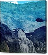 Glacier Waterfall Canvas Print