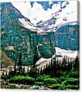 Glaciers Along Plain Of Six Glaciers Trail In Banff Np-alberta Canvas Print