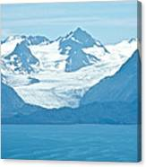 Glaciers In Kenai Range Over Kachemak Bay In Homer-ak- Canvas Print
