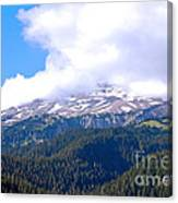 Glaciers In The Clouds. Mt. Rainier National Park Canvas Print