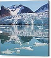 Glaciers Tumble Into The Sea In The Canvas Print