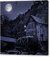Glade Creek Grist Mill At Night Canvas Print