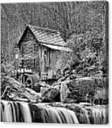 Glade Creek In Black And White Canvas Print