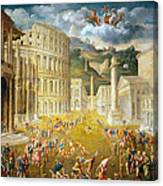 Gladiators Fighting Canvas Print