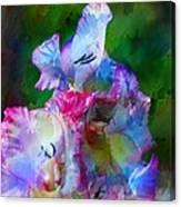 Gladiolus Floral Art Canvas Print