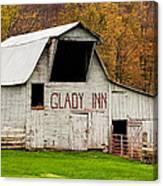 Glady Inn Barn Wv Canvas Print