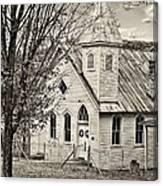 Glady Presbyterian Sepia Canvas Print
