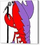 Glam Rock Lobster Or Harleguin Lobster Canvas Print