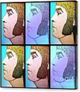 Glam Rocker Collage  Canvas Print