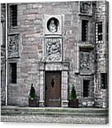 Glamis Castle. Doorway Canvas Print