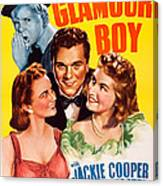 Glamour Boy, Top Jackie Cooper, Bottom Canvas Print