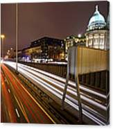 Glasgow Rush Hour Canvas Print