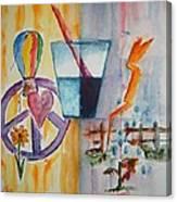 Glass Attitude Canvas Print