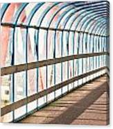 Glass Covered Walkway Canvas Print