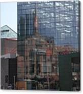 Glass Facade Reflection - Aquarium Baltimore Canvas Print