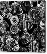 Glass Knobs - Bw Canvas Print