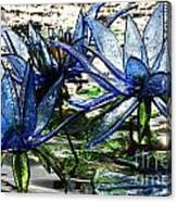 Glass Lilies Canvas Print