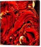 Glass Macro Abstract Crimson Swirls Canvas Print