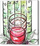 Glass Rosy Wine Canvas Print