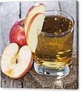 Glass With Apple Juice Canvas Print