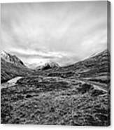 Glen Etive Road And River Canvas Print