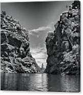 Glen Helen Gorge-outback Central Australia Black And White Canvas Print