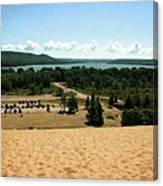 Glen Lake From The Dune Climb Canvas Print