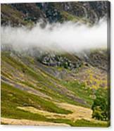 Misty Mountain Landscape Canvas Print