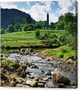 Glendalough Creek With The Old Monastic Canvas Print