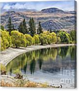 Glendhu Bay Lake Wanaka With Autumnal Trees Canvas Print